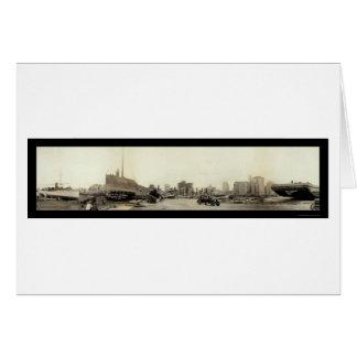 Huracán en la foto 1926 de Miami Felicitación