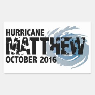 Huracán Matthew octubre de 2016 Pegatina Rectangular