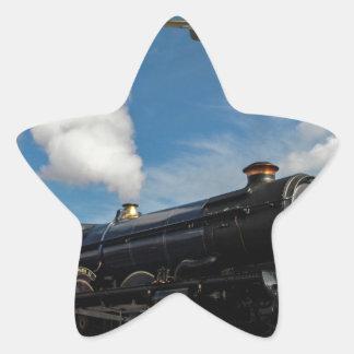 Huracanes y tren del vapor pegatina en forma de estrella