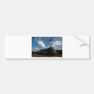 Huracanes y tren del vapor pegatina para coche
