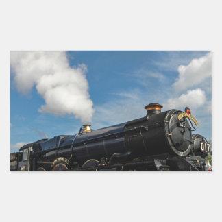 Huracanes y tren del vapor pegatina rectangular