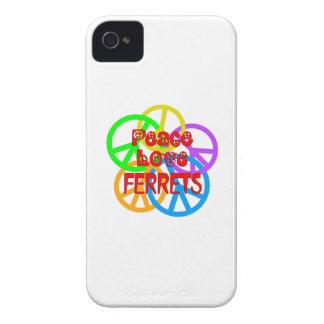Hurónes del amor de la paz carcasa para iPhone 4