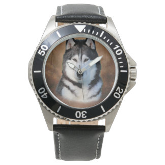 Husky siberiano reloj de pulsera