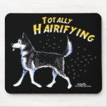 Husky siberiano totalmente Hairifying Alfombrilla De Ratón