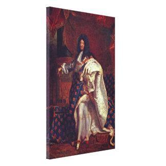 Hyacinthe Rigaud - retrato de Louis XIV Impresión En Lienzo