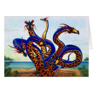 Hydra en tarjeta de la playa