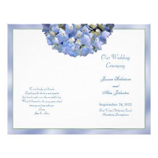 Hydrangea alfa doblado casando la plantilla del folleto 21,6 x 28 cm