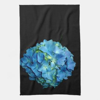 Hydrangea azul paño de cocina