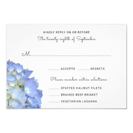 Hydrangea de la luna azul que casa tarjetas del invitación 8,9 x 12,7 cm