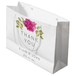 Hydrangea de las rosas fuertes del favor del boda bolsa de regalo grande