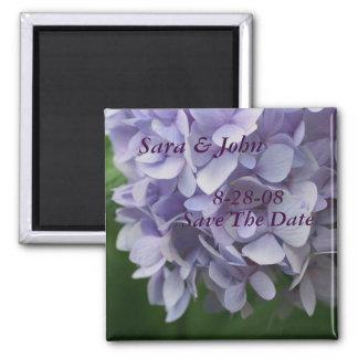 Hydrangea FlowerSave el imán del boda de la fecha