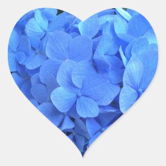 HYDRANGEA tan azul y verde - Pegatina En Forma De Corazón