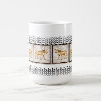 Hyena - mosaico taza de café