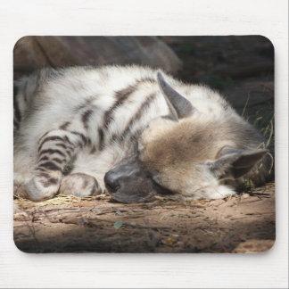 hyena rayado el dormir alfombrilla de ratón