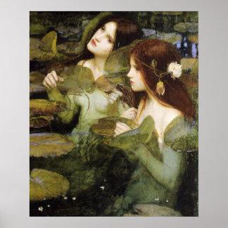 Hylas y el poster de las ninfas de Juan W. Waterho