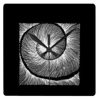 hypnotic spiral Shell Reloj Cuadrado