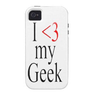 I <3 mi caso del iphone del friki Case-Mate iPhone 4 funda