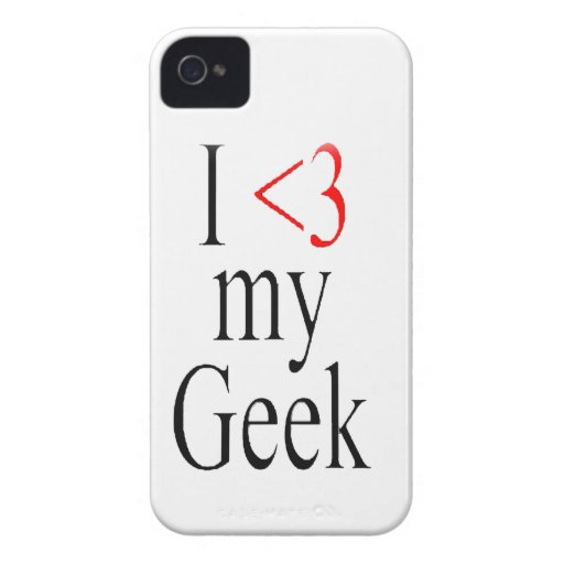 I <3 mi caso del iphone del friki iPhone 4 Case-Mate carcasas