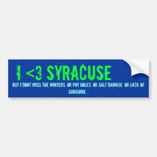 I <3 Syracuse, pero… Pegatina Para Coche