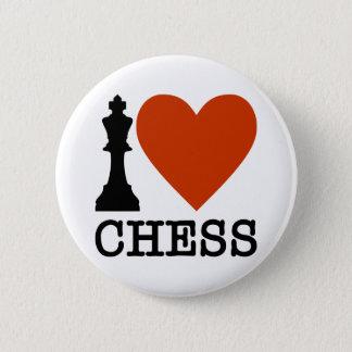 I ajedrez del corazón chapa redonda de 5 cm