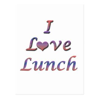 I almuerzo del corazón (amor) postal