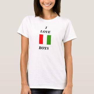 I, AMOR, camisa italiana de la correa del spagetti