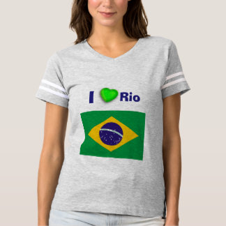 I amor Río del corazón Camiseta
