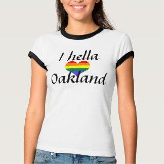 I arco iris de Oakland del amor de Hella Camisetas