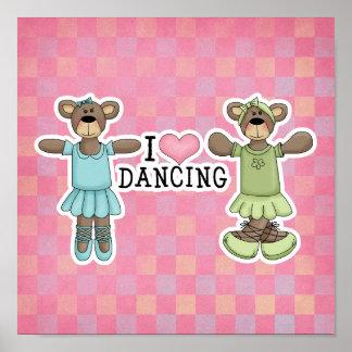 I baile del amor del corazón con los osos del ball poster
