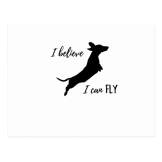 I belive puedo volar el dachshund postal