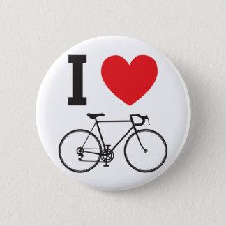I bicicleta del corazón chapa redonda de 5 cm