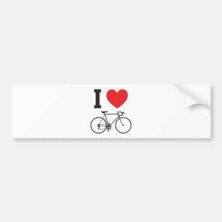 I bicicleta del corazón pegatina de parachoque