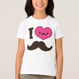 I bigotes del corazón camisetas
