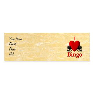 I bingo del corazón tarjetas de negocios