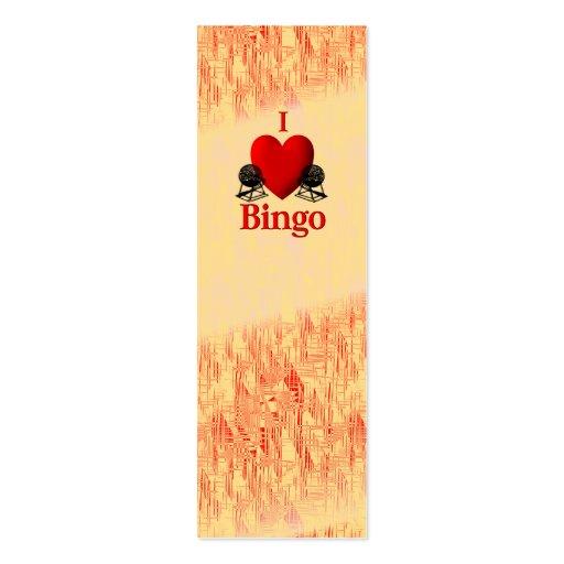 I bingo del corazón tarjeta de negocio