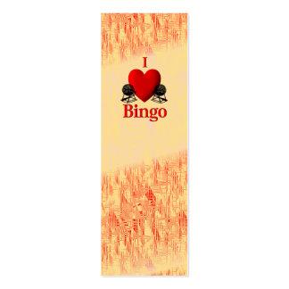 I bingo del corazón tarjetas de visita mini