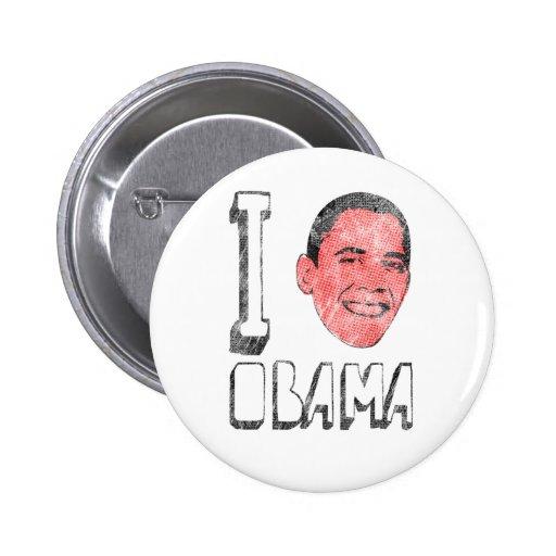 I botones de Obama del corazón Pins