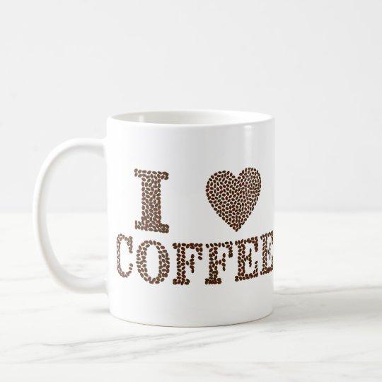 I café del corazón taza blanca clásica de 11 onzas