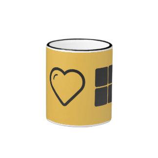 I cajas del corazón cuatro taza de dos colores
