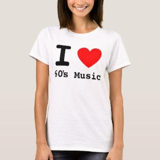 I camisa de la música de los años 60 del corazón
