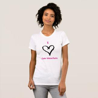 I camisa de los Almeja-Smackers del corazón
