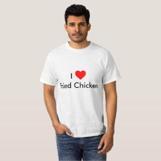 I camisa del pollo frito del corazón