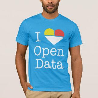 I camiseta abierta de los datos CKAN del corazón