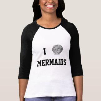 I camiseta del béisbol de las sirenas del corazón