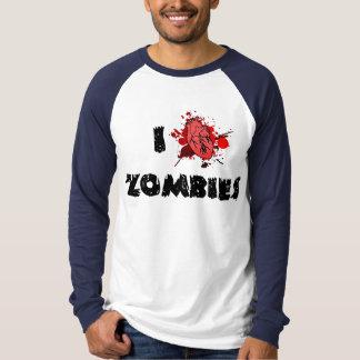 I camiseta larga de la manga de los zombis del