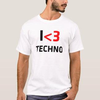 I camisetas impresionantes de Techno