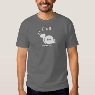 I caracol de Turbo del corazón - camiseta para