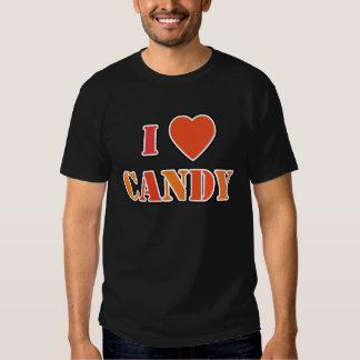 I caramelo del corazón camisetas