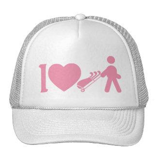 I casquillo rosado de la bola de las mujeres gorra