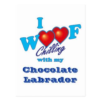 I chocolate Labrador del tejido Postal
